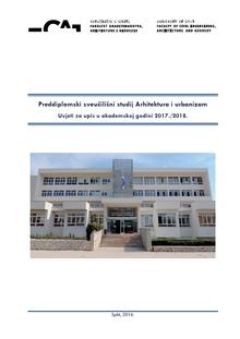 Preddiplomski Sveucilisni Studij Arhitektura